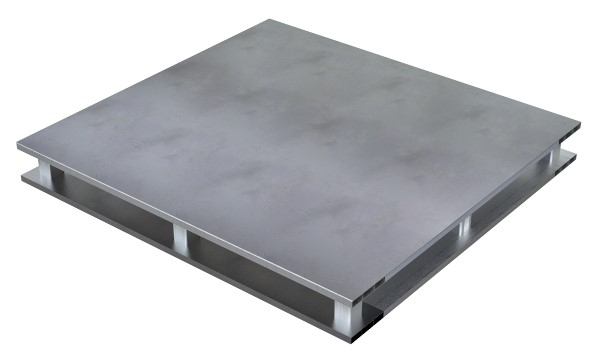 Vestil AP-ST-2424-4W Solid Top Aluminum Half Pallet