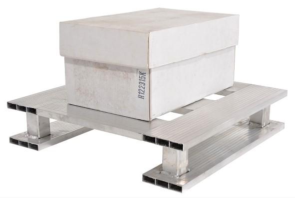 Vestil AP-2424-SB Aluminum Open Bottom Half Pallet
