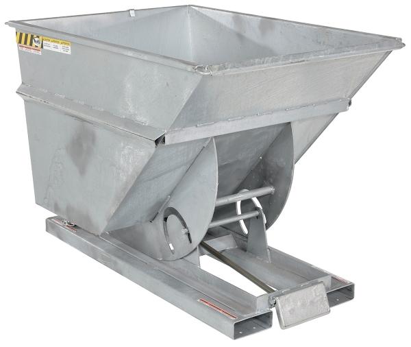 Vestil D-200-HD-GAL Galvanized Self Dumping Hopper