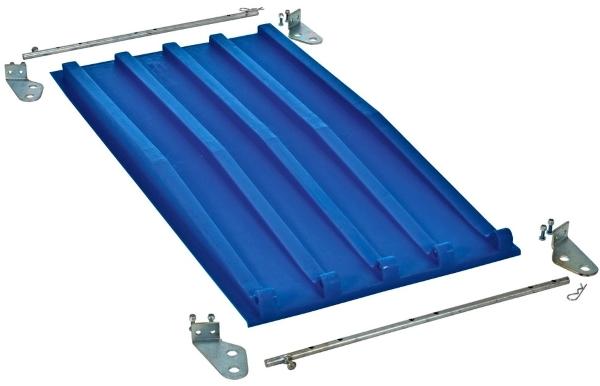 Vestil PLID-D-25-BLU Poly Lid for D-Style Hopper