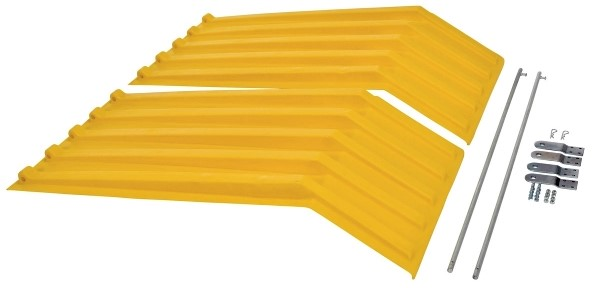 Vestil PLID-H-100-YL Yellow Poly Hopper Lid