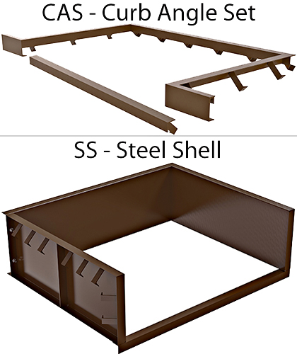 Curb Angle Set & Steel Shell