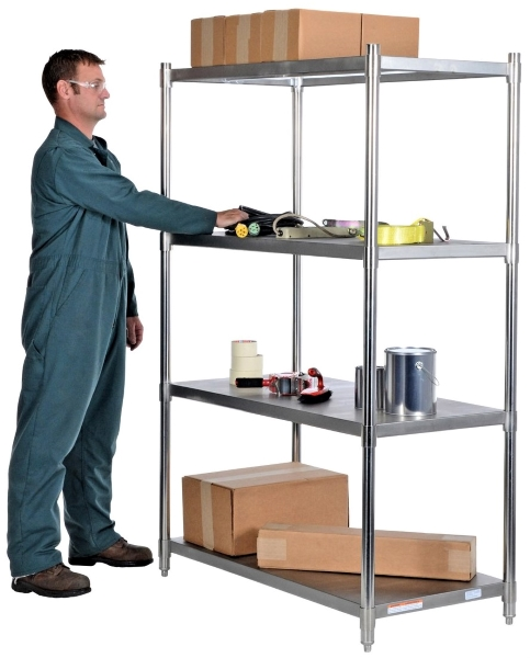 Vestil SSS-2448 Stainless Steel Shelves