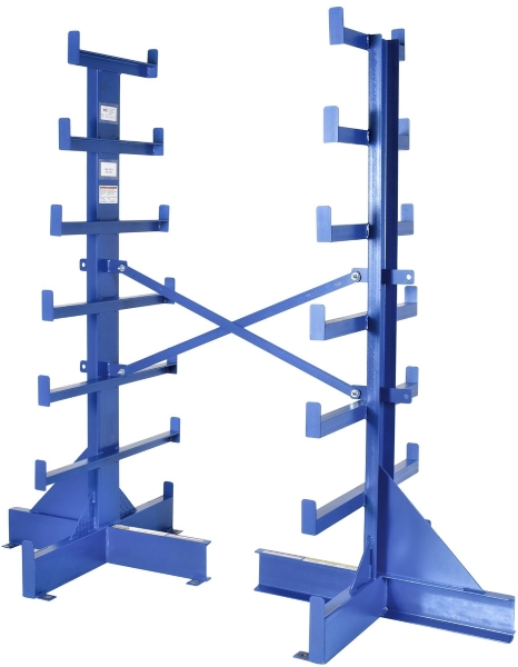 Vestil BAR-R-84-D Double Sided Bar Stock Rack