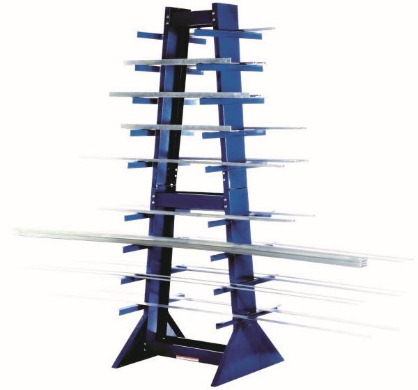 Vestil DSHZ-4 Double Sided Horizontal Bar Rack