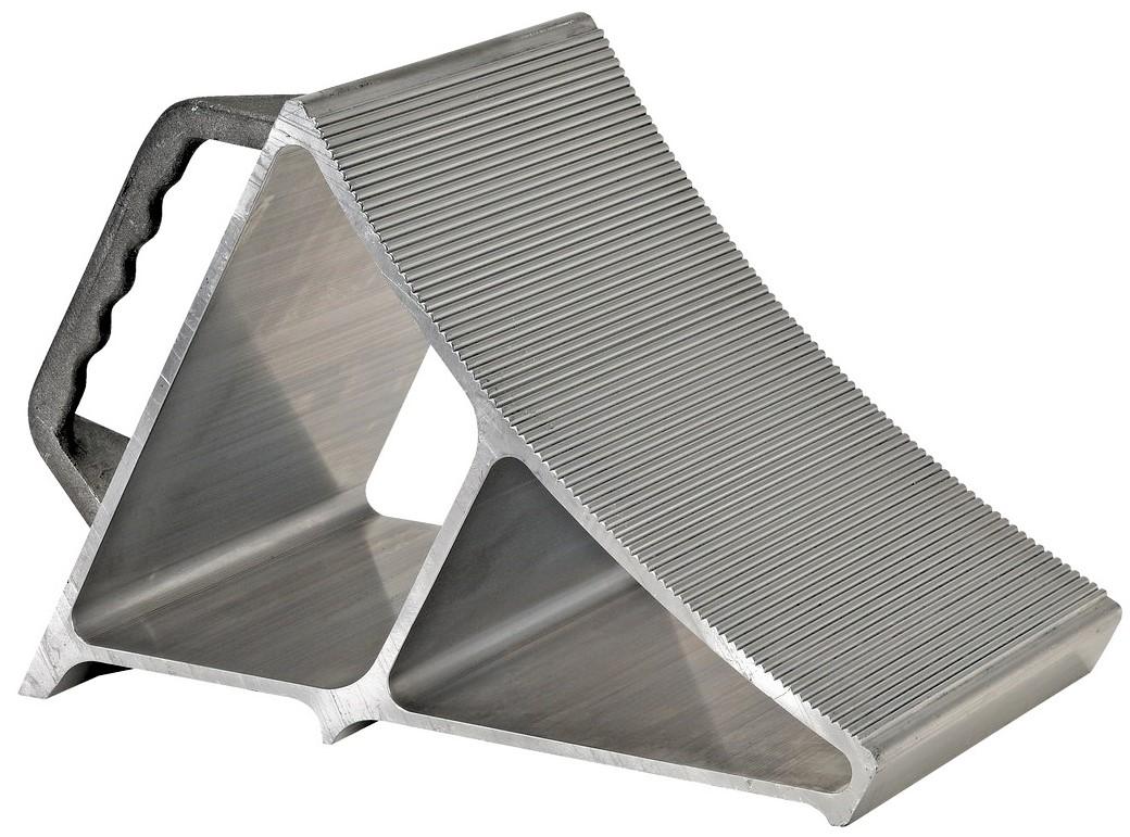 Vestil EALUM-7-HNDG Aluminum Wheel Chock with Hand Grip
