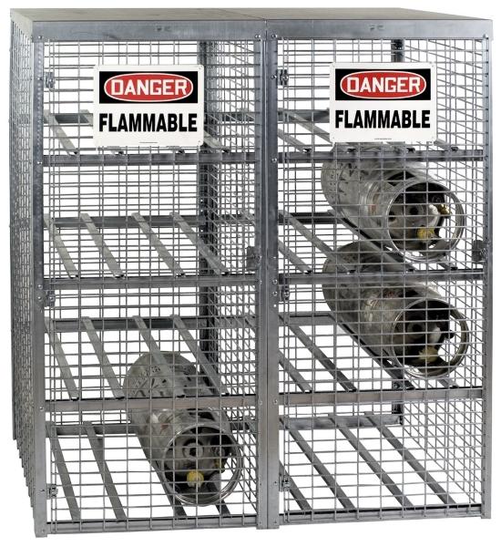 Vestil CYL-T-16 Galvanized Cylinder Storage Cabinet