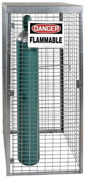 Vestil CYL-T-10 Galvanized Cylinder Storage Cabinet