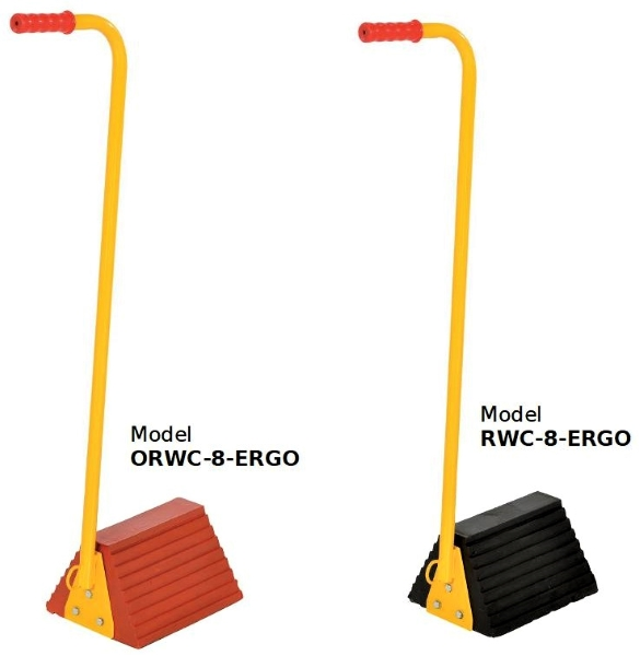 ORWC-8-ERGO & RWC-8-ERGO Wheel Chocks with Ergonomic Handle