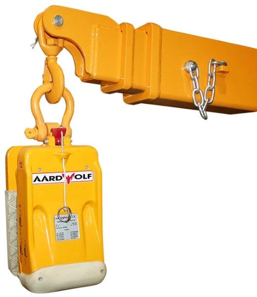 Aardwolf FB3-5380 Forklift Boom shown with AL Slab Lifter