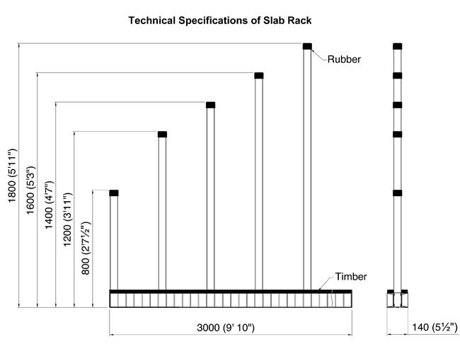 ASR Slab Racks Drawing (not shown as sold)