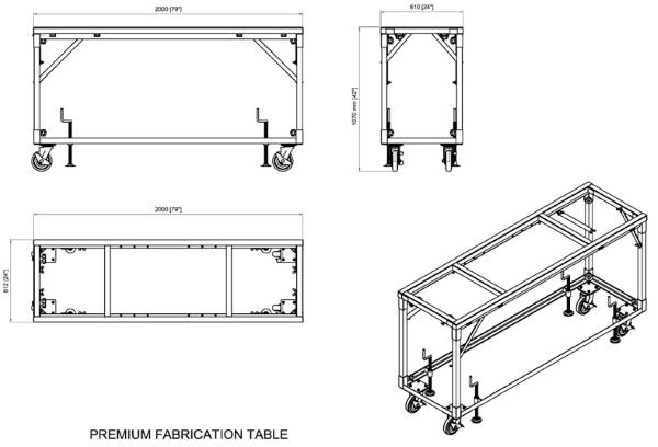 Aardwolf PFT01 Work Table Drawing