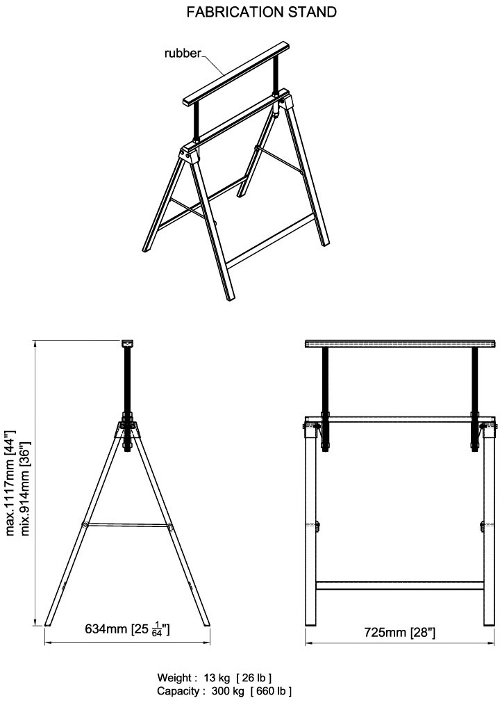 Aardwolf FS01 Fabrication Stand Drawing