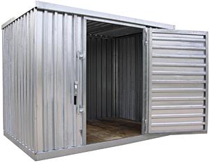 Vestil STOR-912-G-W-1RH Galvanized Industrial Storage Building