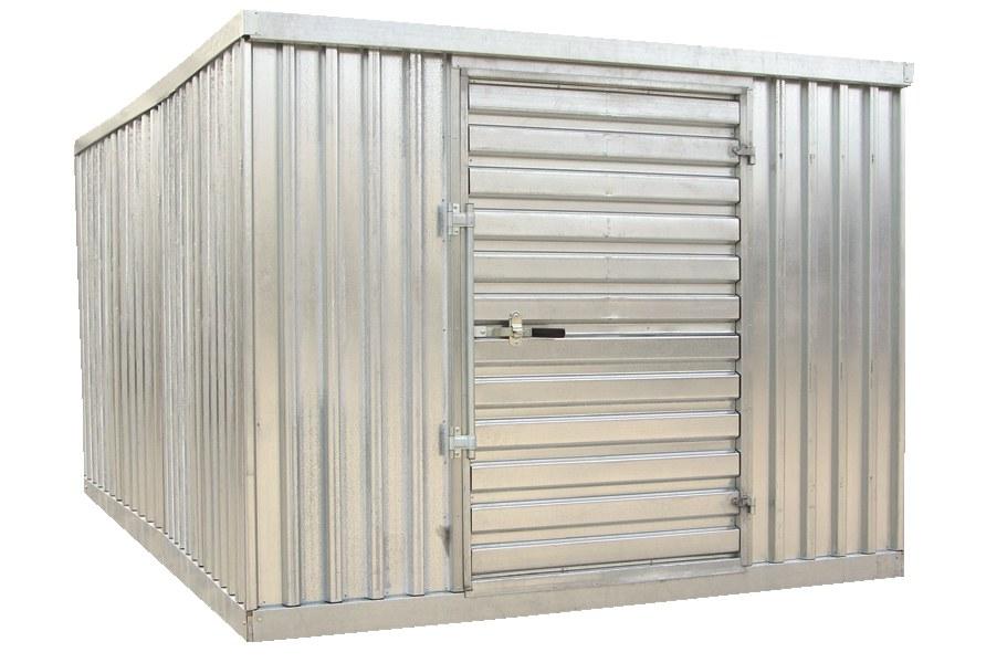 Vestil STOR-912-G-W-1RH Galvanized Storage Building