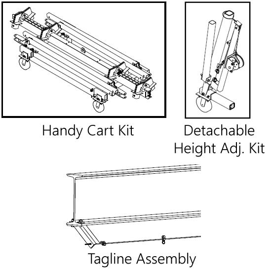Spanco T-Series Adjustable Gantry Crane Options
