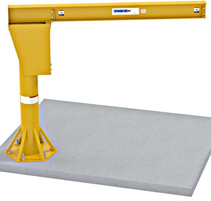 Spanco Foundationless Jib Crane