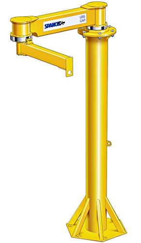 Spanco 402-Series Freestanding Articulating Jib Cranes