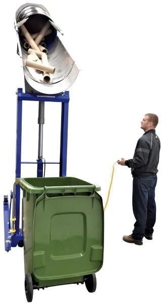 Vestil HDD-48-15-P-SSC Portable Stainless Steel Drum Dumper