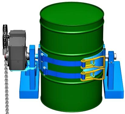 Morse 285A-GR Forklift Drum Dumper Fastening