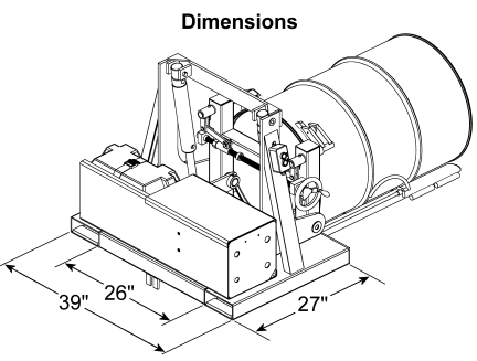 Morse 289F Drum Stacker Drawing