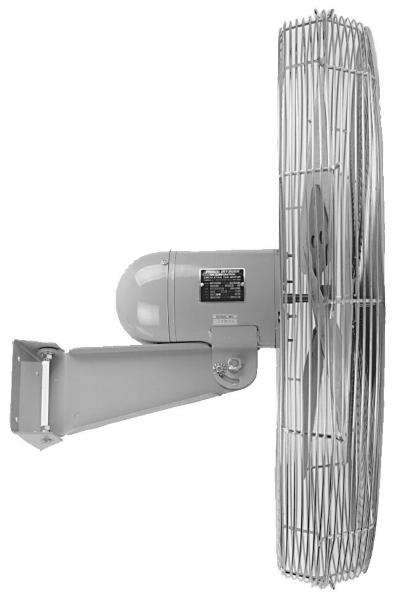 Vestil ICRF-24-WO Wall-Mounted Oscillating Fan