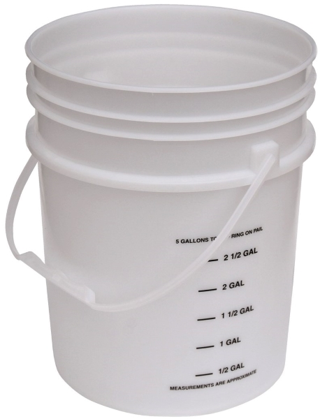 Vestil PAIL-54-PNP-G Plastic Pail with Plastic Handle