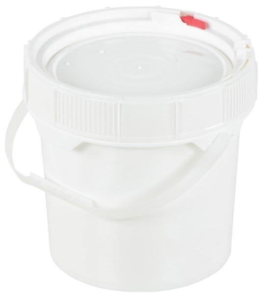 Vestil PAIL-SCR-35-W 3.5-Gallon Plastic Pail with Lid