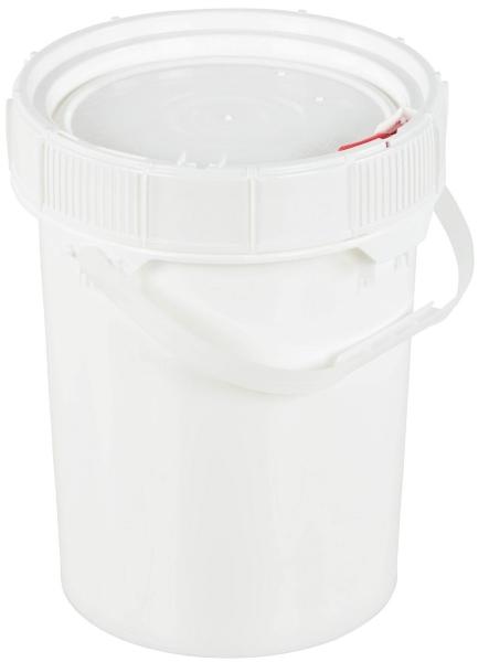 Vestil PAIL-SCR-5-W 5-Gallon Plastic Pail with Lid