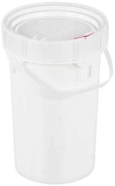 Vestil PAIL-SCR-65-W 6.5-Gallon Plastic Pail with Lid
