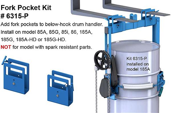 6315-P Optional Fork Pocket Kit