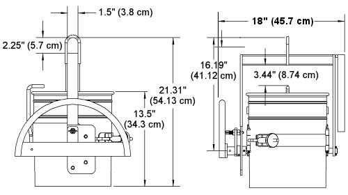 Morse 85-5 Pail Dumper Drawing