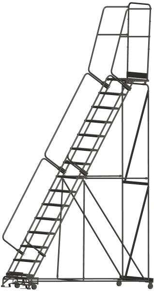 Ballymore 154021P 15 Step Rolling Safety Ladder