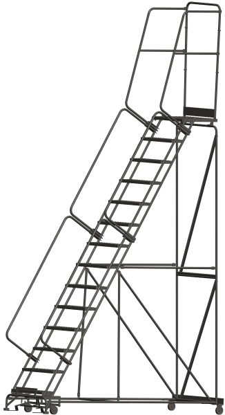 Ballymore 144021P 14 Step Rolling Safety Ladder
