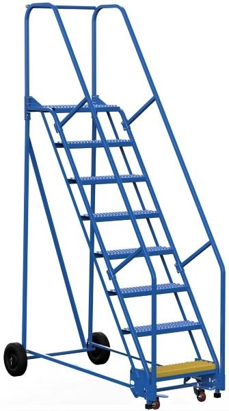 Vestil LAD-8-14-G 8 Step Rolling Warehouse Ladder