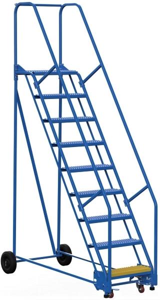 Vestil LAD-9-14-G 9 Step Rolling Warehouse Ladder