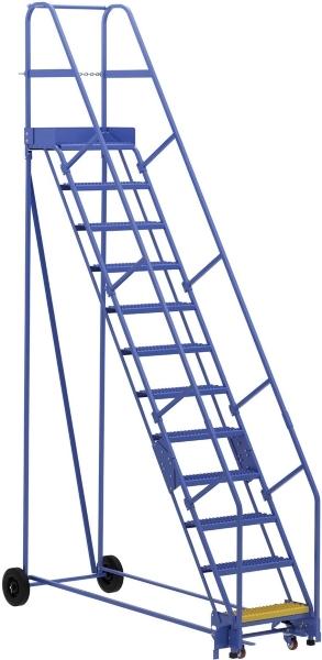 Vestil LAD-12-14-G 12 Step Rolling Warehouse Ladder