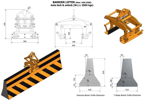 Aardwolf ABL-255/2000 Barrier Lifter Drawing