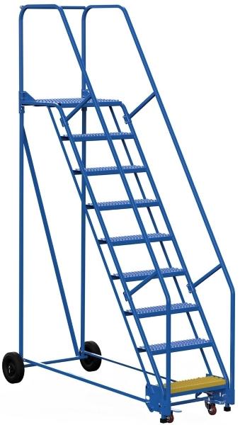 Vestil LAD-9-21-G 9 Step Rolling Warehouse Ladder
