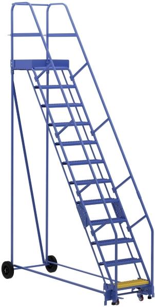 Vestil LAD-12-21-G 12 Step Rolling Warehouse Ladder