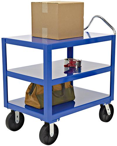 Vestil DH-PH4-2436-3 Steel 3 Shelf Cart