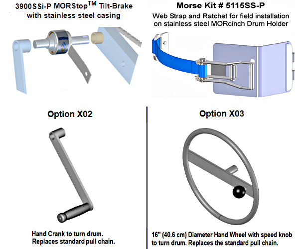 Options for Morse 400A-72SS Drum Dumper