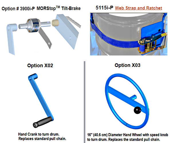 Options for Morse 400A-60 Barrel Dumper