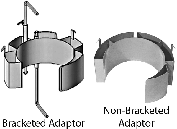 Small Diameter Drum Adaptors Bracketed and Non-Bracketed