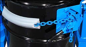 Standard drum cinch close up