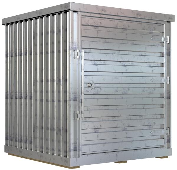 Vestil STOR-66-G-W-1RH-WD Galvanized Storage Building