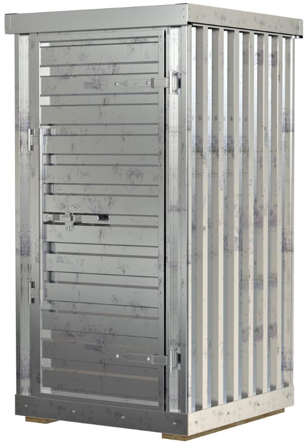 Vestil STOR-44-G-W-1RH Galvanized Storage Building