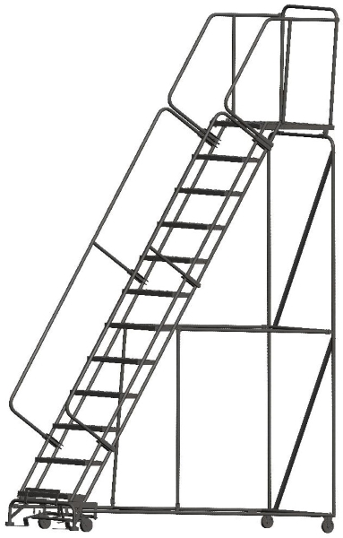 Ballymore 123228P 12 Step Rolling Safety Ladder