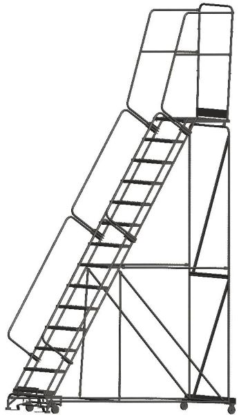 Ballymore 144028P 14 Step Rolling Safety Ladder