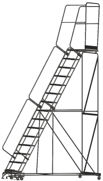 Ballymore 154028P 15 Step Rolling Safety Ladder